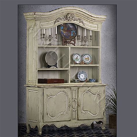country china cabinet country provence hutch parchment china cabinet ebay