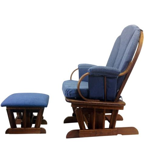 glider rocker and ottoman shermag glider rocker and ottoman corduroy blue