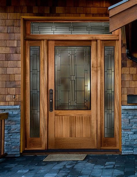 Wood Front Doors With Glass Home Design Ultra Modern Wooden Doors With Glass For Wood Inside Front Door 85 Mesmerizing