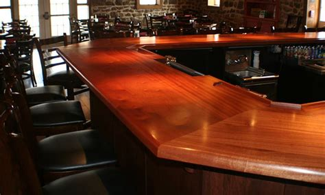 how to finish a bar top 1 3 4 inch sapele mahogany wood bar top in red and brown