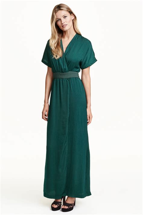 Layla S Brand Collection H M Blouse 1 h m satin wrap dress in green lyst