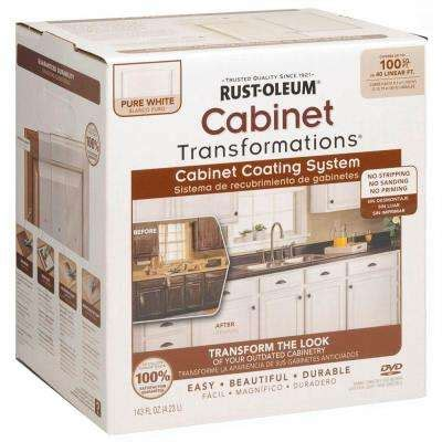 rustoleum kitchen cabinet transformation kit cabinet countertop paint interior paint the home depot