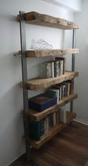 Wooden Bookshelves Designs 1000 Ideas About Reclaimed Wood Shelves On