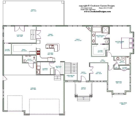 main floor plans crookston designs plan 10007 00