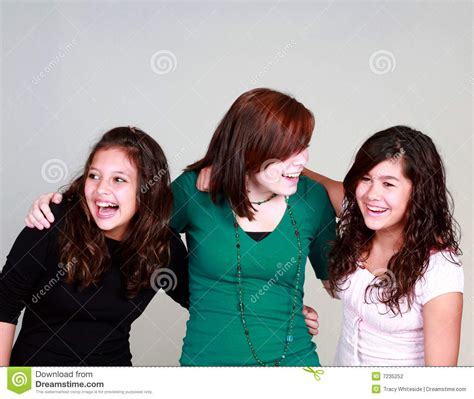 group teen girls laughing diverse group of laughing girls stock photography image