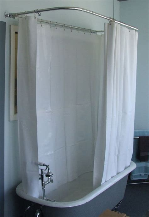 tub curtains 180 quot shower curtain for clawfoot tubs 55 for our