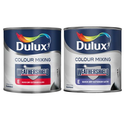 dulux weathershield colour mixing exterior gloss satin 1 litre painting decorating from