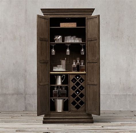 restoration hardware bar cabinet 17th c castell 243 double door bar cabinet 43 189 quot w x 20 quot d x