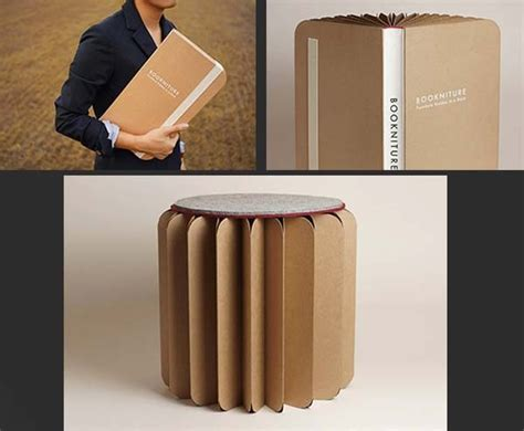 Book Stool by This Oversized Book Is Really A Stool