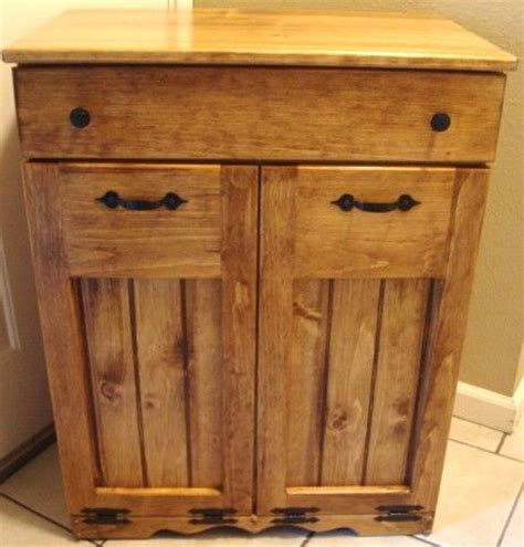 double trash bin cabinet double barrel cabinet for the home pinterest trash
