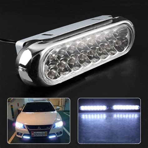 universal led car daytime running daylight drl fog light one pair car daytime running light led gd traders