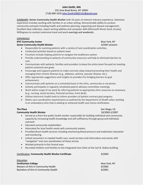 Sle Resume For Unit In A Hospital Home Support Worker Sle Resume Labels Word Template