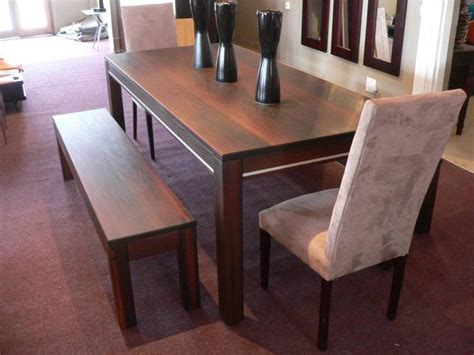 modern dining table with bench solid wood modern dining table home design