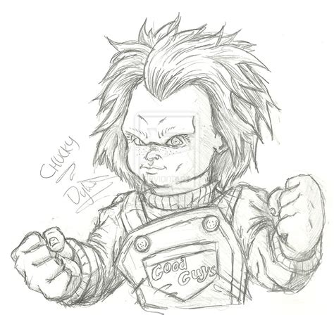 Tiffany And Chucky Coloring Pages Chucky Doll Coloring Pages