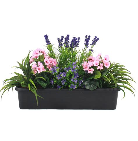artificial garden flowers mixed flower window box artificial flower trough