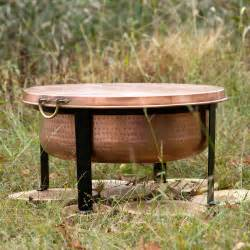 Copper Firepit Handcrafted Copper Pit Grill Table The Green