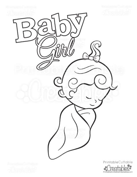 coloring pages for girl toddlers baby girl free printable coloring page