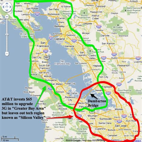 Part Time Mba Sf Bay Area by At T Upgrades 3g In Sf Bay Area Forgets Silicon Valley Is