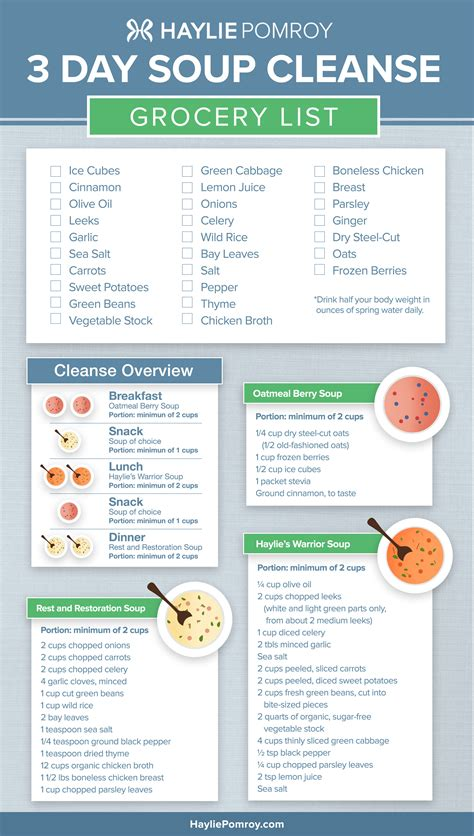 Gaiam 3 Day Clean Food Detox Plan by Haylie S 3 Day Soup Cleanse Haylie Pomroy