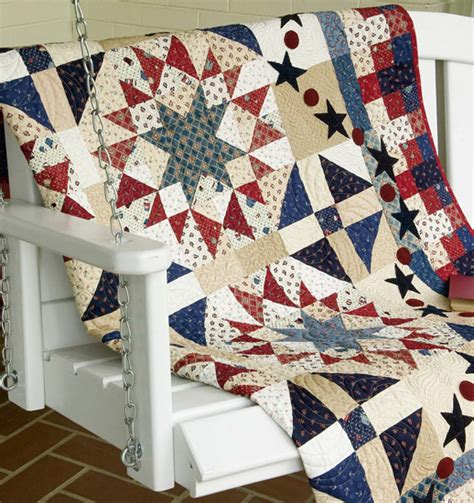 Americana Quilt by Happy 4th Of July Patriotic Quilt Stitch