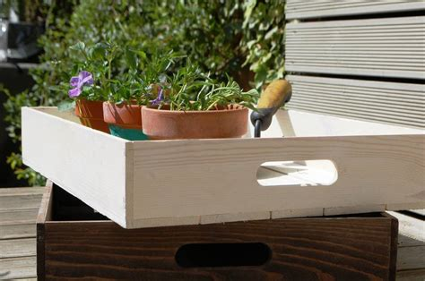 Wooden Crate Planters by Personalised Wooden Crate Planter Tray By Lovestruck