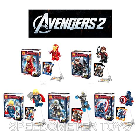 Murah Crocs Anak Karakter Avenger 2 jual mainan anak blocks murah lego 2 isi 5 speedometer toys
