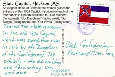 state capitol jackson mississippi postcard
