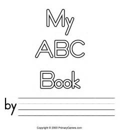 Printable Alphabet Book Template free printable abc book covers abc coloring pages
