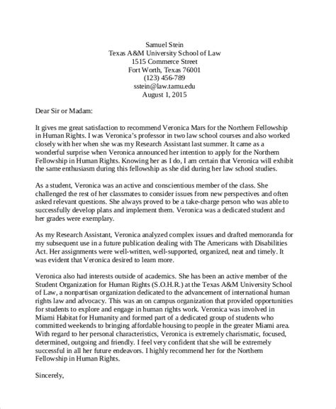 sample student recommendation letter templates