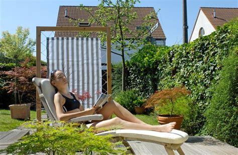 Garten Sichtschutz Beweglich by 10 Tipps F 252 R Urlaub Im Garten Saisonales Selbst De