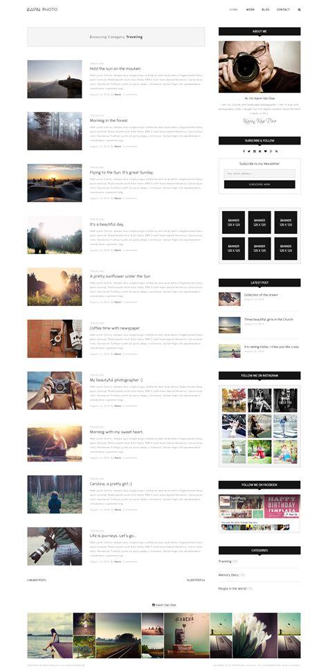 joomla category blog layout exle kavin photography blog joomla template by templaza