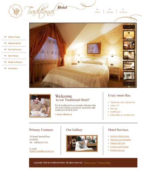 3602 travel hotel website templates dreamtemplate