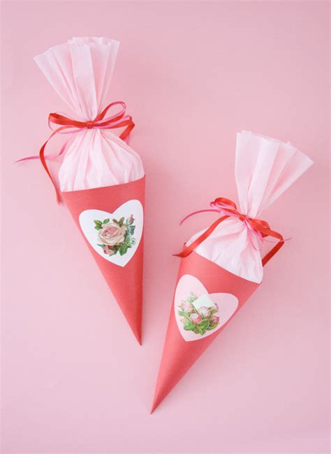 How To Make Paper Cones For Food - home of treasures paper cone tutorial