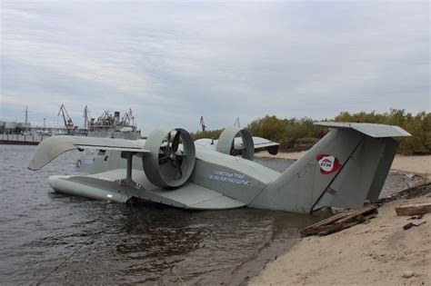Ekranoplan Ground Effects Aircraft Used for Passenger ...