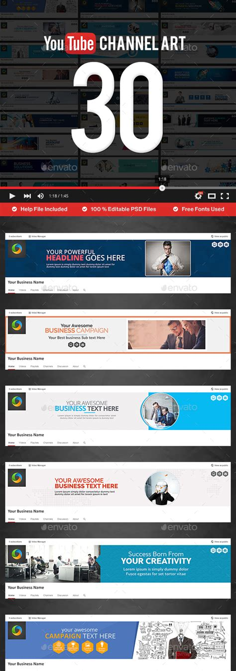 youtube channel layout psd 35 amazing free youtube banner templates psd download