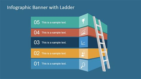 slides template for powerpoint free infographic banner template with ladder for powerpoint