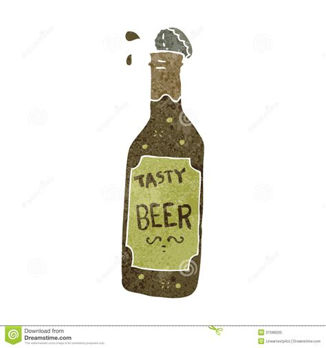 beer bottle cartoon retro cartoon beer bottle stock vector illustration of