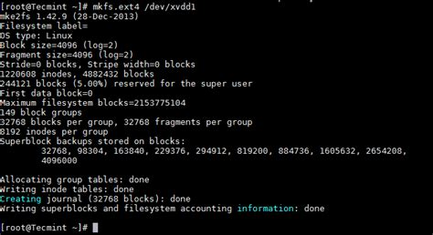 format file bash how to add a new disk larger than 2tb to an existing linux