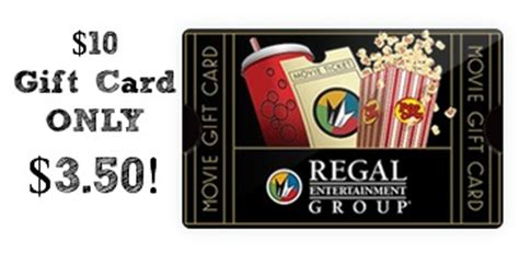 discounted regal cinemas gift card 10 gift card only 3 50 - Regal Cinema Gift Card Discount