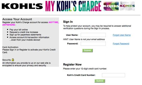 make kohls credit card payment kohls credit card login mykohlscharge kohls credit