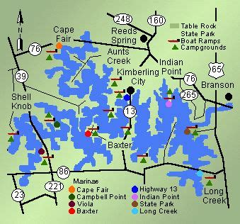 map of table rock lake 17 best images about tablerock lake missouri lakes