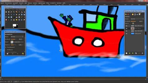 cartoon boat youtube speedpaint a boat cartoon youtube