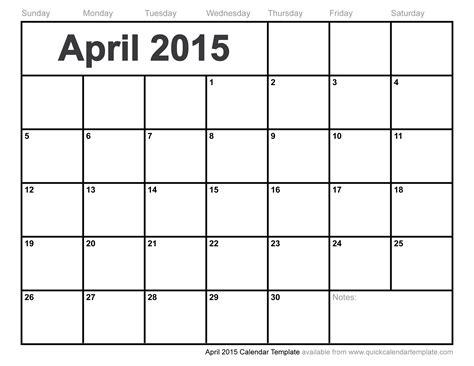 april calendar template calendars for april 2015 printable calendar template