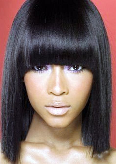 Weave Hairstyles With Side Bangs by Weave Hairstyles With Side Bangs Protective