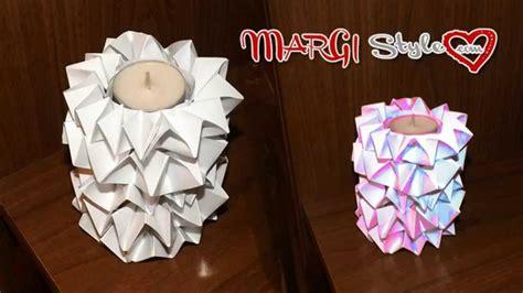 costruire candele portacandele con rotolo e carta