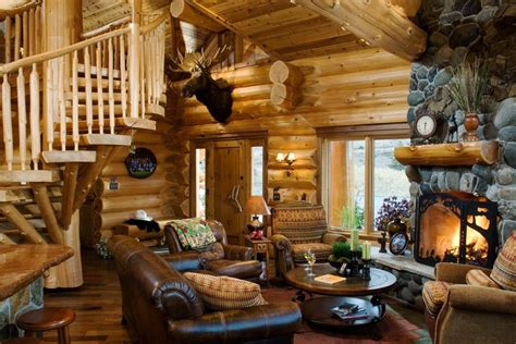 log cabin living room furniture cabin living room rustic with antique clock contemporary