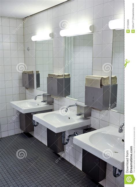 home interior bathroom mirror and sink stock photo image public bathroom interior stock photo image of indoor