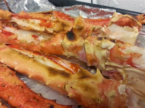 check it out broiled king crab legs