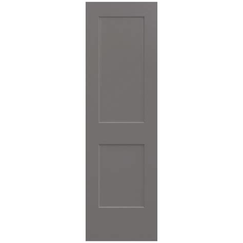 Composite Interior Doors Jeld Wen 24 In X 80 In Smooth 2 Panel Weathered Solid Molded Composite Interior