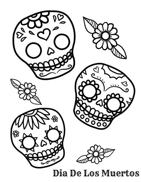 sugar skull coloring pages az coloring pages